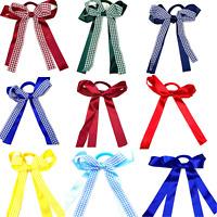School Hair Endless Bobbles Gingham Hair Bow Ribbons Girls Hair Accessories