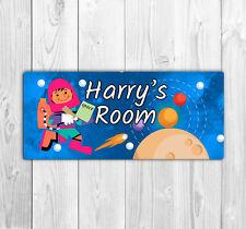 Personnalisé Enfants'S Chambre Porte Nom Plaque/Signe-Exploration de l'espace