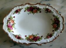 Royal Albert Old Country Roses piatto vassoio ovale porcellana inglese cm.26x18