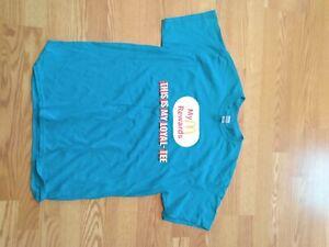 "McDonalds Blue Crew Shirt "" Rewards Loyal-Tee Large Brand New"