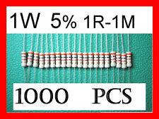 1W 1 Watt Carbon Film Resistor Assortment 5% 1R-1M