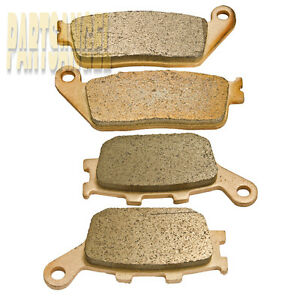 Brake Pads Front and Rear Compatible with Honda VTX 1300 1300C 1300R 1300S Shadow 1100 ACE 1100 Aero 1100 Sabre 1300 Interstate 1300 Stateline 1300 Fury VT1300CX