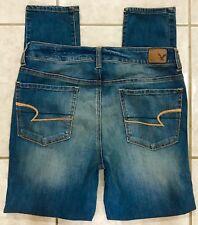 American Eagle Hi Rise Jegging Skinny Super Stretch Blue Jeans size 10 Short