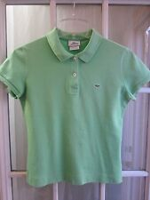 Authentic Lacoste Green Cap Sleeve Polo Shirt Women 40 **Excellent**