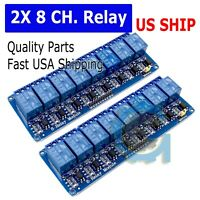 2X 5v Eight 8 Channel DC 5V Relay Switch Module for Arduino Raspberry Pi ARM AVR