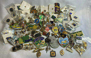 HUGE Giant Lot Of Over 100 Lions Club Pins , Coins /Tokens, Pendants, Cuff Links