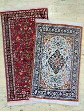 Dollhouse Miniature Rug Carpets Set of 2