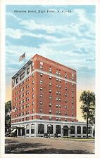 B13/ High Point North Carolina NC Postcard c1920 Sheraton Hotel Building 2