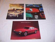 1977 Porsche Jaguar Volvo Dealer Brochure Sales Literature NOS