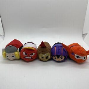 Disney Tsum Tsum Armored Baymax,Hero,Thor,Kakamora Flame Coconut & Anger Plush
