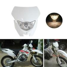 White Motorcycle Hi/Lo Beam Headlight Kit Fit For Most Enduro And Supermoto Bike