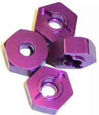 HSP 02134 Purple Aluminum 12mm Wheel Hex Hubs Pins Redcat Shockwave Volcano EPX