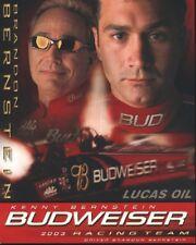 2003 Brandon/Kenny Bernstein Budweiser Top Fuel NHRA postcard