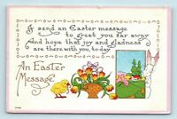 EARLY 1900s BERGMAN ARTS & CRAFTS STYLE TRUE VINTAGE EASTER POSTCARD