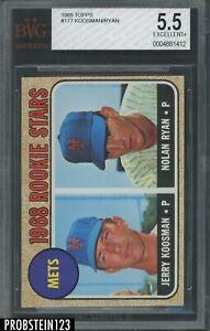 1968 Topps #177 Mets Rookie Stars w/ Nolan Ryan RC HOF BVG 5.5 EX+ LOOKS NICER