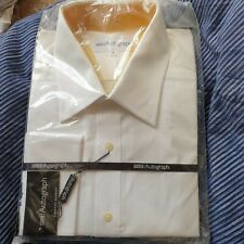 "Marks And Spencer Timothy Everest Autograph 18"" White Square Embossed Look Shirt"