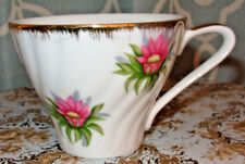 Vintage Embassy Tea Cup White With Pink Flowers Gold Accents Fine China