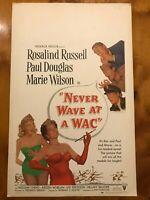 Original Window Card 14x22: Never Wave at a WAC (1953) Rosalind Russell