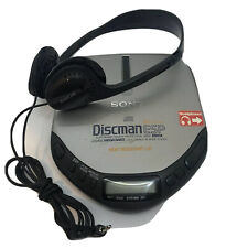 Sony CD Discman Walkman Model D-E301 ESP Protection MEGA BASS with Headphones