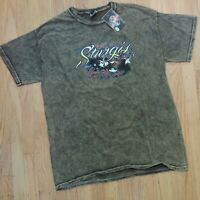 Sturgis Black Hills Rally 2015 T Shirt Size Large Motorcycle Brown 75th Anni NEW