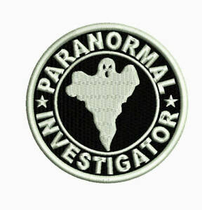 Paranormal investigator embroidered patch astral threads phenomena ghost hunters