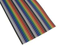 10Ft 30P Multi-Color Flat Ribbon Zippable Cables 30 Conductors 1.27mm