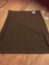 ladies Bnwt Checked Skirt Size 14 Long By M&s