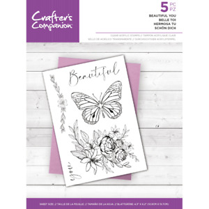 Motiv-Stempel Clear-stamp Beautiful flower Blume Crafters Companion CC-ST-BEYO