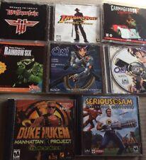 "Pc Game Lot Rare - Carmageddon 2 Duke Nukem Serious Sam "" Doom "" Oni Rainbow Six"