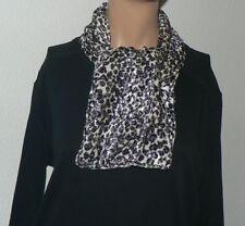 Schal Animal Print weiß schwarz  samtig weich Damenschal