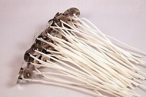 "WICKS - 50 ct LX Cotton Candle Wicks 6"" long with tabs - eleven sizes available"