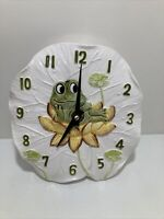 "Vintage Sears Roebuck ""Neil The Frog & Sunflower"" Ceramic Wall Clock 1977 Japan"