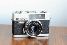 KONICA C35     35mm Rangefinder Camera    w/ Leather case    * Okay User/ READ *