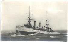 Real Photo Postcard Cruiser USS Albany (PG-36 & CL-23) by E Muller 1903