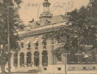 Vintage Old Postcard Post Office Custom House Brunswick Georgia GA c1900s