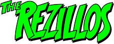 Shaped Vinyl Sticker 25x10cm punk new wave laptop car rock retro the rezillos