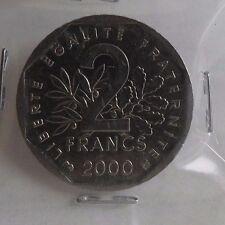 2 francs semeuse 2000 : TTB : pièce de monnaie française
