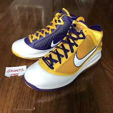 """Men's Nike LeBron VII QS """"Media Day"""" CW2300-500 Size 10.5 Los Angeles Lakers 7"""