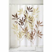 New Leaves Fabric Shower Curtain 72 x 72 Bathroom Hooks Liners Home Accessories