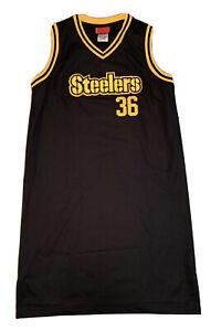 Vintage Reebok Pittsburgh Steelers Jerome Bettis #36 Women's Jersey Dress Size L