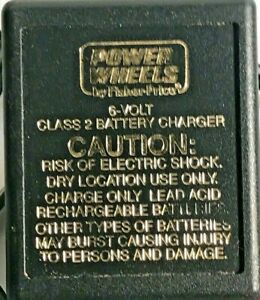Power Wheels 6 V Class 2 Battery Charger Genuine Fisher Price