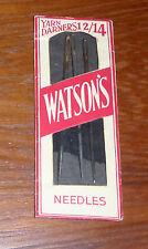 Vintage Watson Yarn / Darners 12/24 Needles