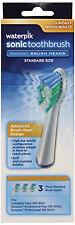 Waterpik Sensonic Toothbrush Standard Brush Heads SRRB-3W 3 count