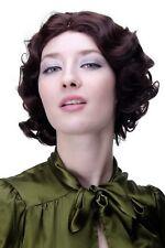 wig Me Up - Années 20 Swing Carré Ondulé Perruque marron brun acajou a4002-33