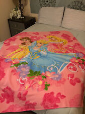 Disney Three Princess  fleece blanket  throw Belle Beauty and the Beast NEW