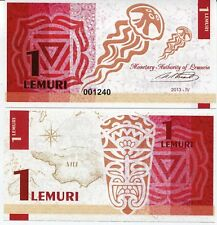 Lemuria 1 lemuri 2013 UNC Jellyfish Private Issue