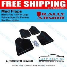 Rally Armor for V2 08-11 STI Hatch/11-14 WRX Hatch UR BLK Mud Flap Silver Logo