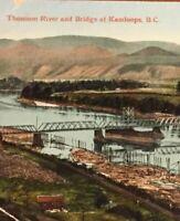 Postcard, Bridge, Thompson River Kamloops B.C. Canada Vintage P15