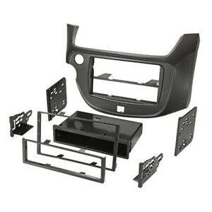 For Honda Fit 11/08- Car Radio Panel Installation Frame 1-DIN Black Matte