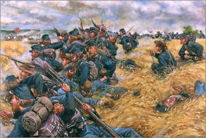 Maritato Signed Civil War Limited Edition Art Print A Desperate Stand Gettysburg